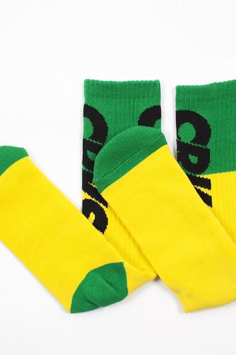 Носки CROOKS & CASTLES Chain Elite Socks (Yellow/Green, O/S)
