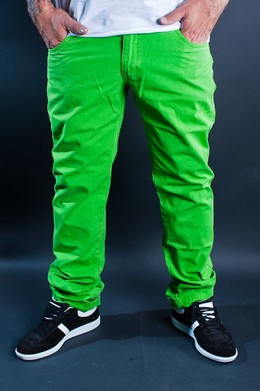 Брюки URBAN CLASSICS 5 Pocket Pants Limegreen фото