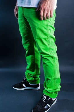Брюки URBAN CLASSICS 5 Pocket Pants Limegreen фото 2