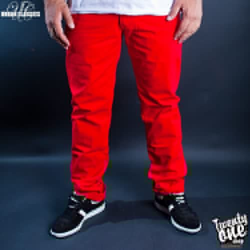 Брюки URBAN CLASSICS 5 Pocket Pants (Red, 32)
