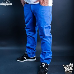 Брюки URBAN CLASSICS 5 Pocket Pants Blue фото 2
