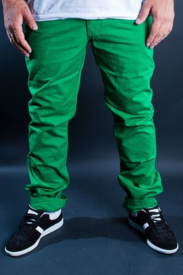 Брюки URBAN CLASSICS 5 Pocket Pants C-Green фото