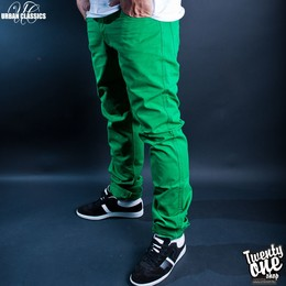 Брюки URBAN CLASSICS 5 Pocket Pants C-Green фото 2