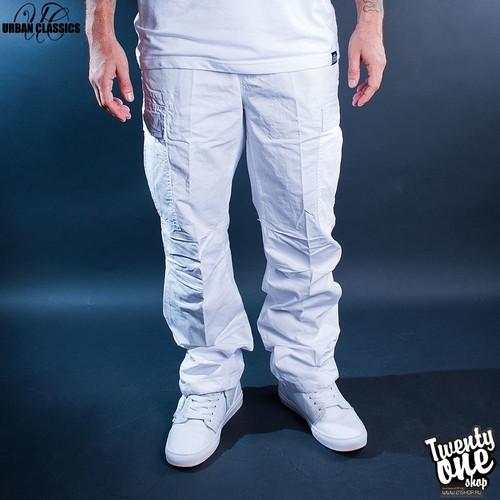 Брюки URBAN CLASSICS Combat Cargo Pants (White, 38) брюки urban classics straight fit sweatpants white xs