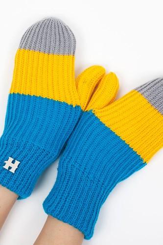 Варежки HARRISON Beatrice Gloves (Yellow-Blue-Grey)