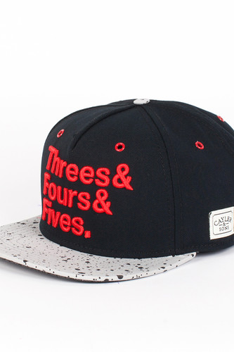 Бейсболка CAYLER & SONS Jays Cap (Black-Cement-Red, O/S)