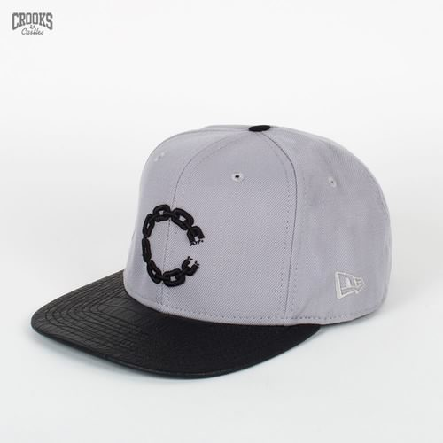 Бейсболка CROOKS & CASTLES I1370812 (Lt-Grey-Black, O/S) бейсболка crooks