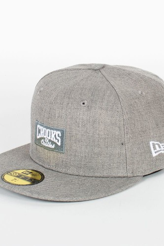 Бейсболка CROOKS & CASTLES I1370813 (Heather-Grey, 7 5/8) недорого
