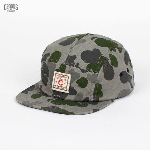 Бейсболка CROOKS & CASTLES Long Range Camo 5 Panel Cap (Grey-Camo, O/S) бейсболка crooks