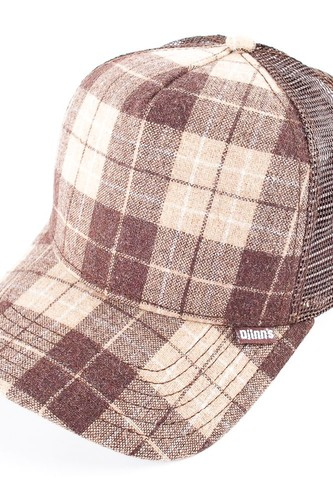 Бейсболка DJINNS Hft Wool Check (Brown, O/S)