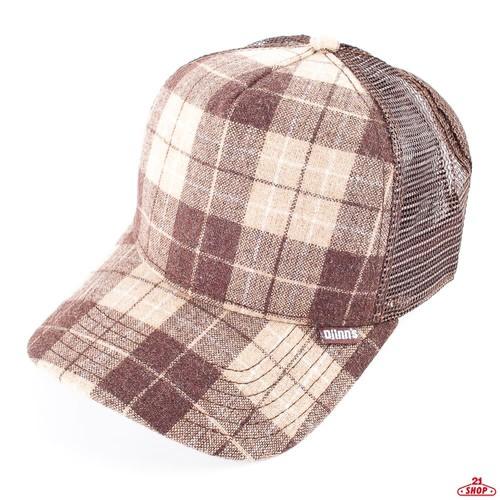Бейсболка DJINNS Hft Wool Check (Brown, O/S) цена