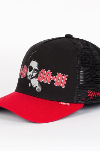 Бейсболка DJINNS Ladidadi High Fitted T.cap (Black-Red, O/S)