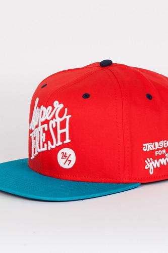 Бейсболка DJINNS Super Fresh 6 Panel Snapback (Red-Turquoise, O/S)