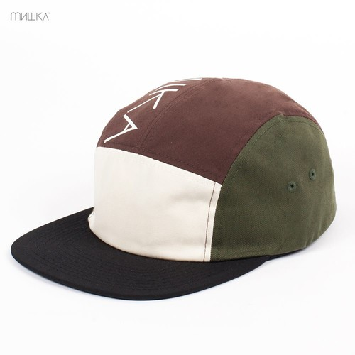 Бейсболка МИШКА Cyrillic 5 Panel (Brown, O/S) бейсболка mishka scout 5 panel fl121720e denim o s