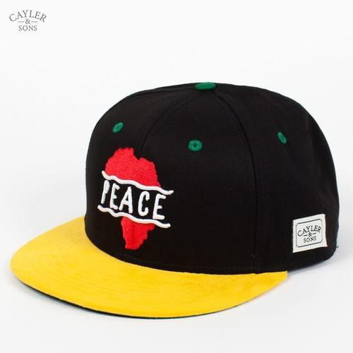 Бейсболка CAYLER & SONS Peace Cap (Black-Red-Yellow, O/S) бейсболка cayler