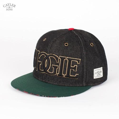 Бейсболка CAYLER & SONS Juicy Cap (Black-Denim-Green-Red, O/S) outdoor lovers casual denim ivy newsboy cap