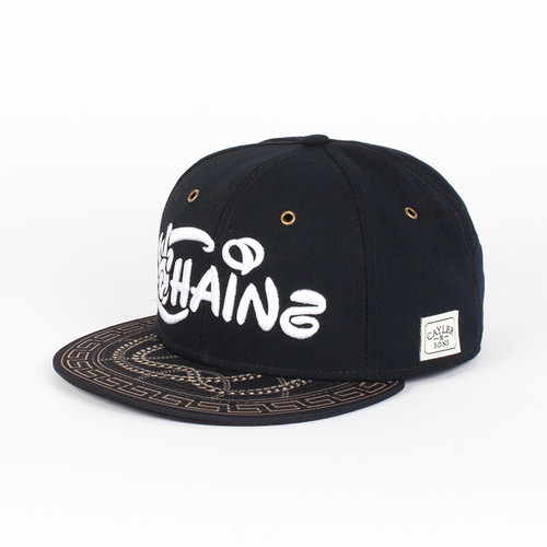 Бейсболка CAYLER & SONS Chainz Cap (Black-White-Gold, O/S) цена