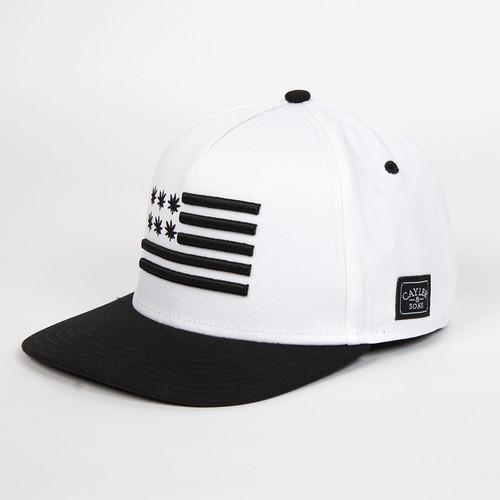Бейсболка CAYLER & SONS Budz&stripes Cap (White-Black, O/S)