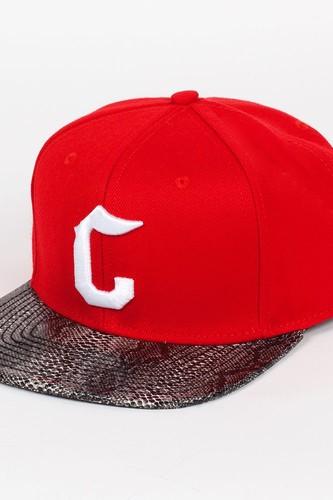 Бейсболка CROOKS & CASTLES I1310808 (True-Red-Snakeskin, O/S)