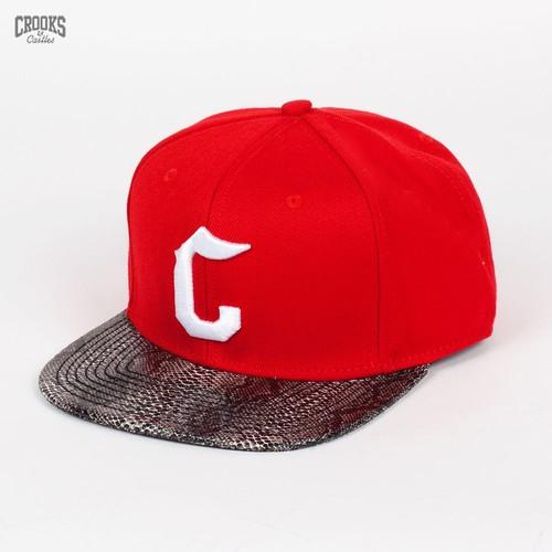 Бейсболка CROOKS & CASTLES I1310808 (True-Red-Snakeskin, O/S) бейсболка crooks