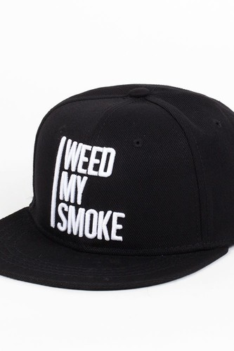 Бейсболка TRUESPIN Weed My Smoke (Black, O/S)