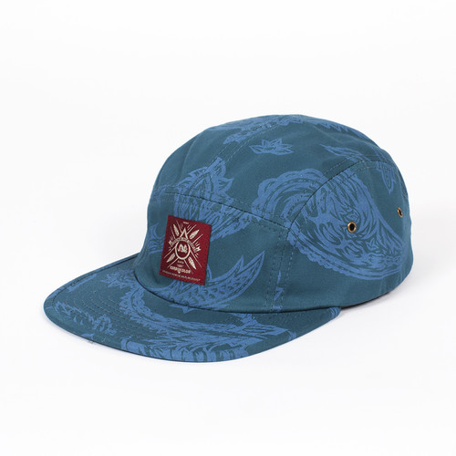 Бейсболка TURBOKOLOR Five Panel Caps SS14 (Ocean-Blue-Paisley-Print, O/S) бейсболка akomplice ocean scene camper ocean o s