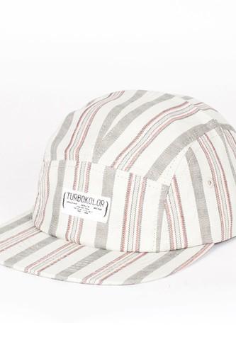 цена на Бейсболка TURBOKOLOR 5 Panel Caps Standart Stripes FW13 (White-Grey, O/S)