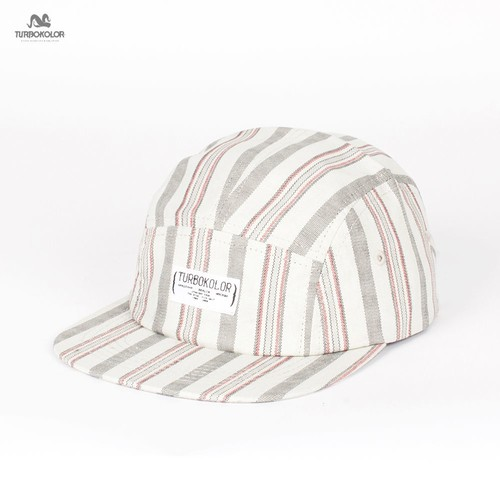 купить Бейсболка TURBOKOLOR 5 Panel Caps Standart Stripes FW13 (White-Grey, O/S) дешево
