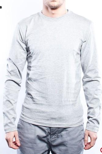 Лонгслив URBAN CLASSICS Basic Tee L/s (Grey, L) жилет urban classics basic bubble vest red s