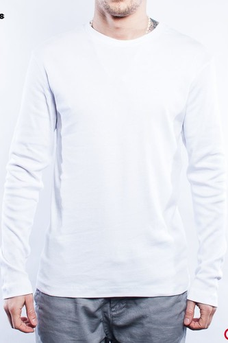 Лонгслив URBAN CLASSICS Rib Tee L/s (White, XL) футболка urban classics godfather characters tee white l