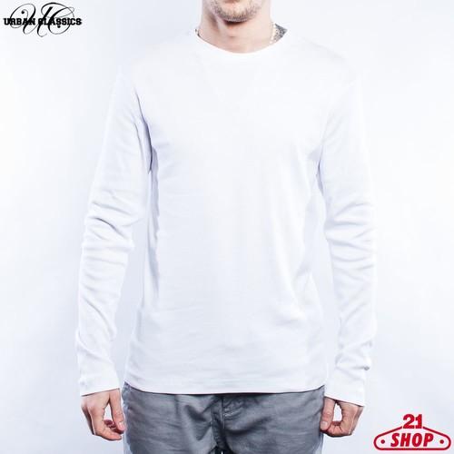 купить Лонгслив URBAN CLASSICS Rib Tee L/s (White, XL) по цене 330 рублей