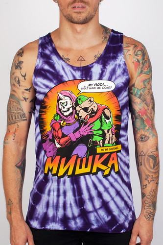 Фото - Майка МИШКА Final Moments Tie-dye Tank Top (Purple-Tie-Dye, XS) tie neck butterfly sleeve top