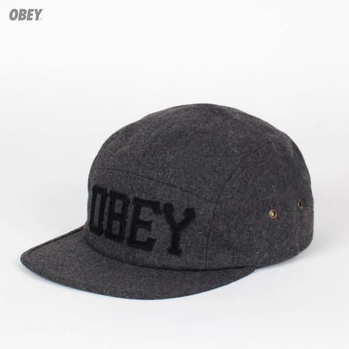 Бейсболка OBEY Stadium 5 Panel (Heather-Charcoal, O/S) бейсболка obey trail 5 panel burgundy o s