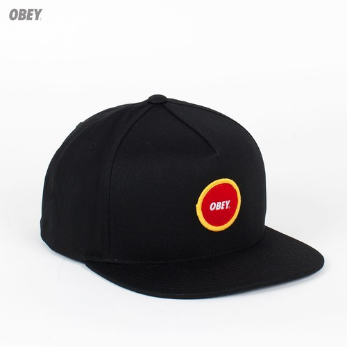 Бейсболка OBEY Circle Patch Snap (Black, O/S) бейсболка obey washington 5 panel olive o s