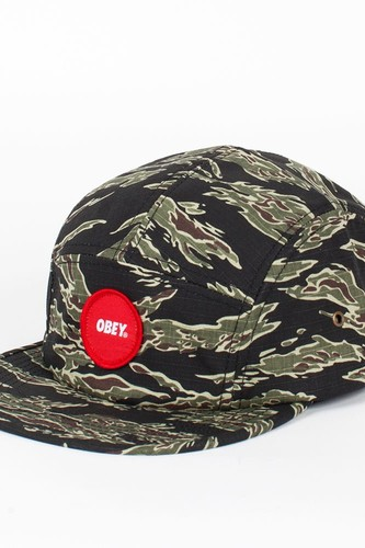 Бейсболка OBEY Circle Patch 5 Panel (Tiger-Camo, O/S)