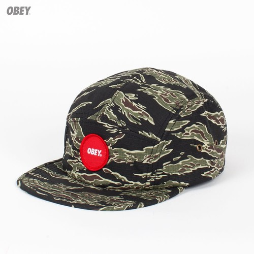 Бейсболка OBEY Circle Patch 5 Panel (Tiger-Camo, O/S) бейсболка obey trail 5 panel burgundy o s