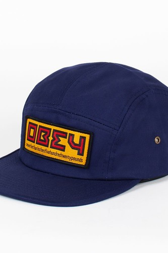 Бейсболка OBEY Republic 5 Panel (Navy, O/S)