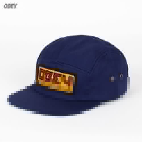 Бейсболка OBEY Republic 5 Panel (Navy, O/S) бейсболка obey ulster 5 panel light brown o s