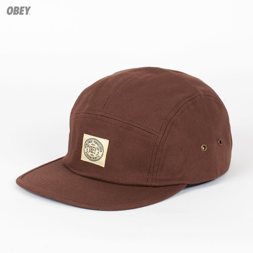Бейсболка OBEY Bend 5 Panel (Mustang, O/S) бейсболка obey ulster 5 panel light brown o s