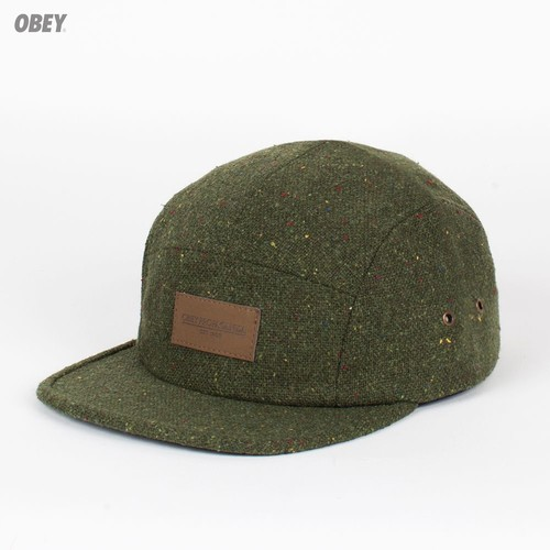 Бейсболка OBEY County 5 Panel (Army, O/S) бейсболка obey ulster 5 panel light brown o s