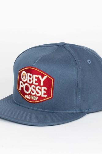 цена на Бейсболка OBEY Forty Snap (Grey-Blue, O/S)