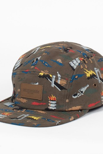 Бейсболка OBEY City Hunting 5 Panel (Dark-Olive, O/S)