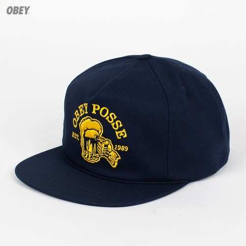 Бейсболка OBEY After Midnight Snap (Dark-Navy, O/S) бейсболка obey washington 5 panel olive o s