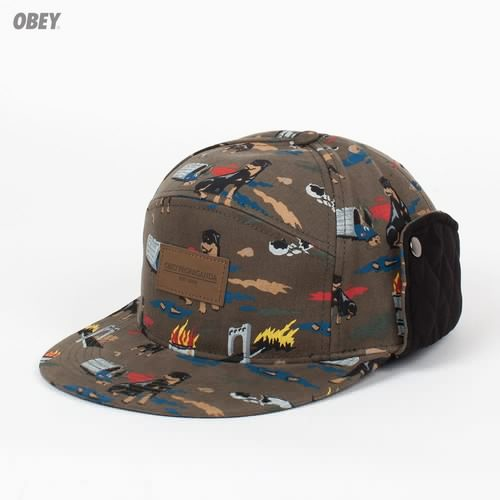 лучшая цена Бейсболка OBEY City Hunting Field Hat (Dark-Olive, O/S)