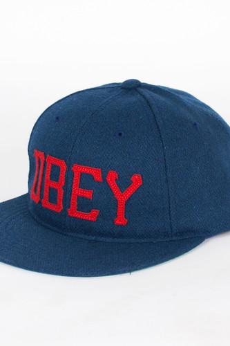 лучшая цена Бейсболка OBEY Hank Hat (Indigo, O/S)