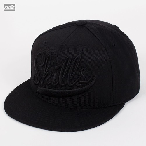 Бейсболка SKILLS Script Cap (Black-Black-Logo, O/S) бейсболка классическая diamond script sports hat khaki