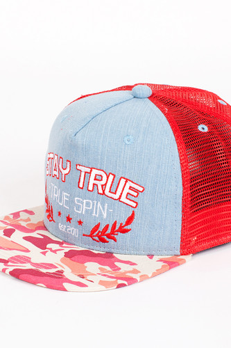 Бейсболка TRUESPIN Air Force Trucker Cap (Red, O/S) бейсболка truespin miami trucker cap white blue o s