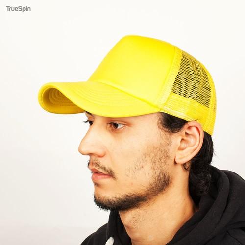 Бейсболка TRUESPIN Basic Trucker (Yellow, O/S) цена 2017