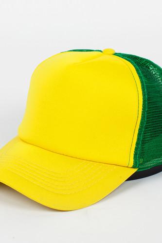 Бейсболка TRUESPIN Combo Trucker (Yellow-Green, O/S) бейсболка truespin 3 tone blank trucker cap red yellow green o s