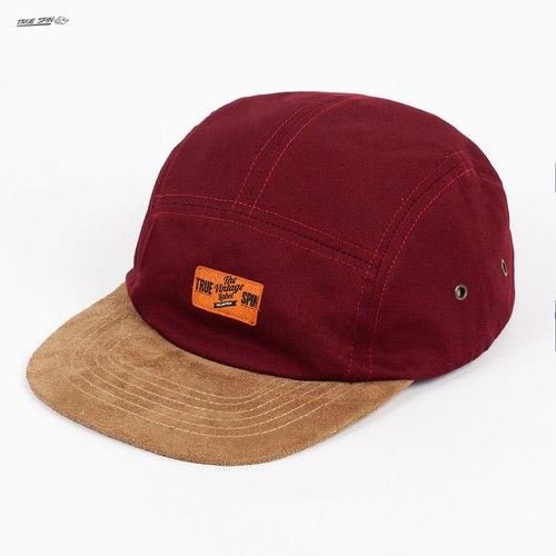 Бейсболка TRUESPIN Herritage 5 Panel Cap (Burgundy-Brown, O/S)